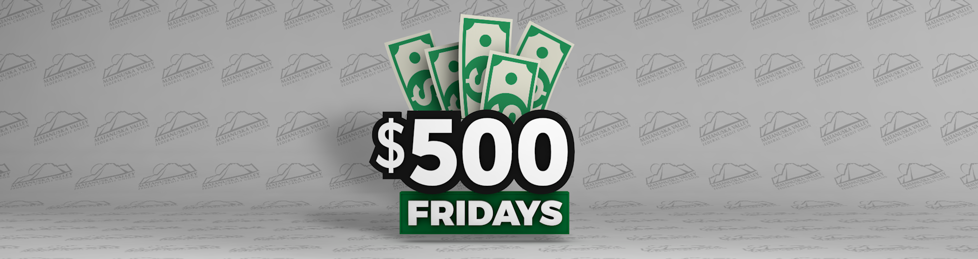 500 dollar fridays banner
