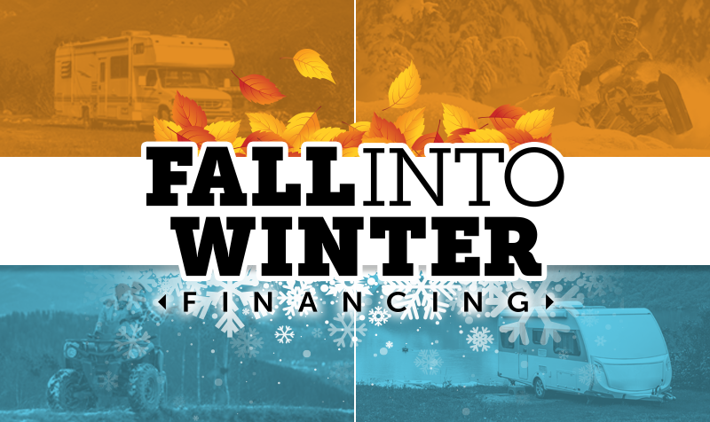 fall into winter sale banner